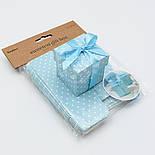 Коробочка для подарка, цвет голубой 5х5х5.5 см (10 шт), фото 3