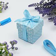 Коробочка для подарка, цвет голубой 5х5х5.5 см (10 шт)