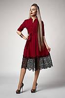 Платье  мод 713-2 ,размер 48,50,52 бордо