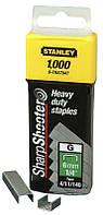 Скоби тип G 6мм (Степлер 6-TR250, 6-TR151Y) 1000шт Stanley 1-TRA704T   скобы