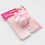 Коробочка для подарка, цвет розовый 5х5х5.5 см (10шт), фото 3