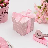 Коробочка для подарка, цвет розовый 5х5х5.5 см (10шт)