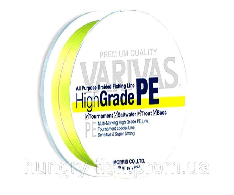 Шнур Varivas High Grade PE Yellow 150м #1 13.1 lb