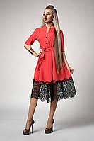 Платье  мод 713-3 ,размер 46,48,50,52 корал