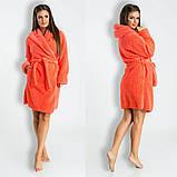 Мягкий,пушистый женский махровый халат отличного качества 6расцв. 42-48, фото 4