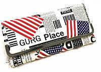 Современный лакированный кошелек с принтом газеты Замечательный глянцевый аксессуар Код: КГ5932, фото 1