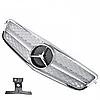 Решетка радиатора Mercedes W204 стиль C63 AMG серебряная с хромом, фото 2