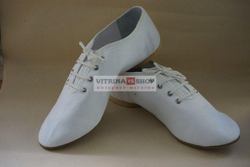 a135e3e8e6c Обувь для современных танцев джазовки низкие из натуральной кожи белые.