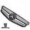 Решетка с эмблемой Mercedes W204 стиль C63 AMG black/chrome, фото 3