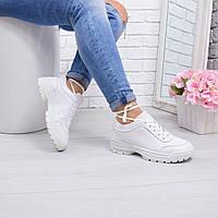Кроссовки женские Denny белые 5611 спортивная обувь, фото 1