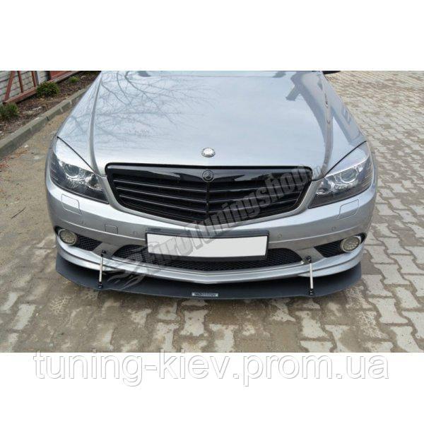 Диффузор переднего бампера Mercedes C W204 AMG-Line (дорест.)