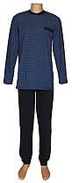 Пижама теплая трикотажная мужская 03207 Коmbi Blue Ромб коттон начес, р.р.46-60