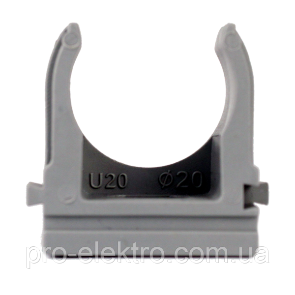 Крепеж для гофротрубы EH-KG-20 Ø 20мм. Ø отв. 6 мм 100шт./уп