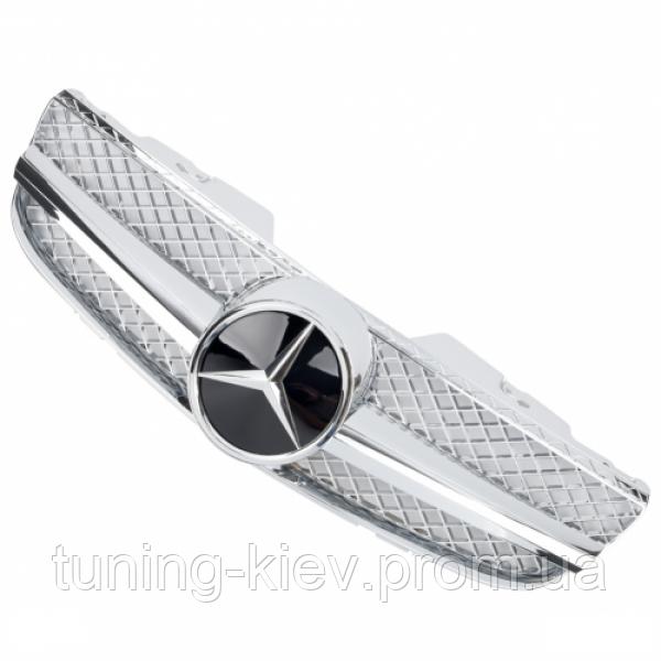 Решетка радиатора Mercedes R230 стиль AMG FL хром