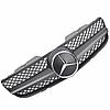Решетка радиатора Mercedes R230 стиль AMG матовая с хром звездой, фото 2