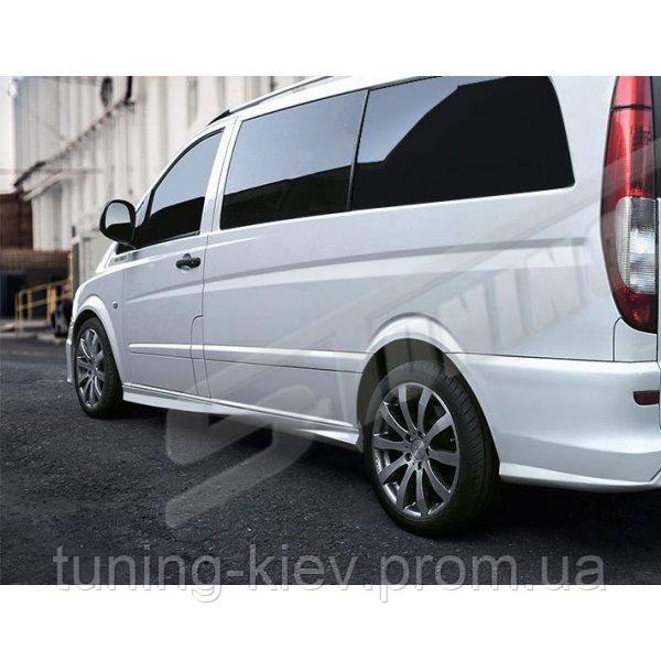 Накладки на пороги Mercedes Vito W639 стиль S-line