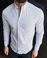 Новая Мужская Белая Рубашка 100% Cotton Натуральные Турецкие Рубашки Стильные и Нарядные