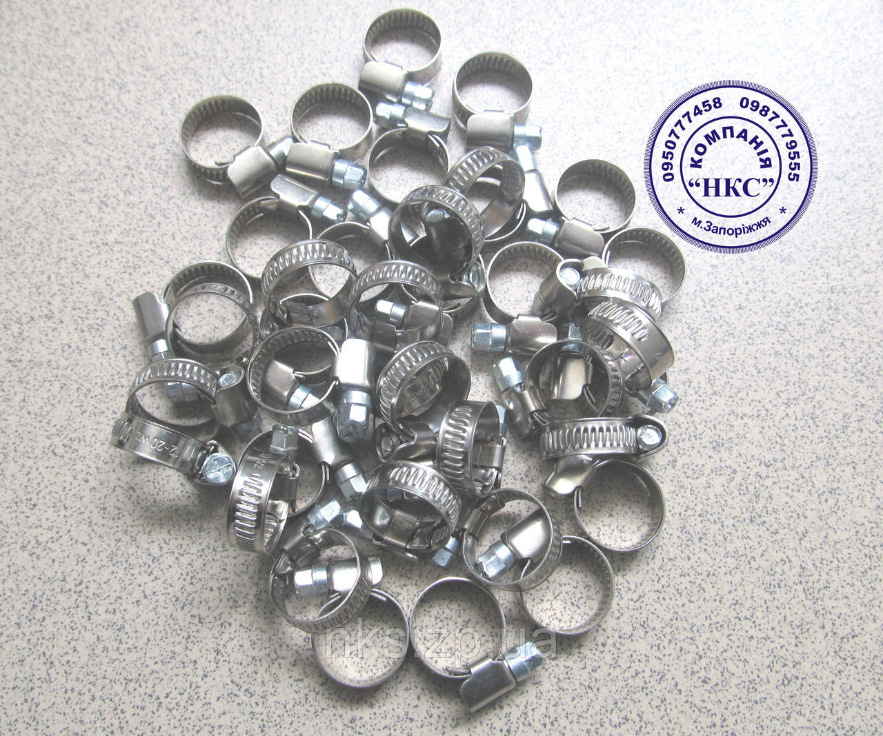 Хомут стяжний 12-20мм н/ж. сталь