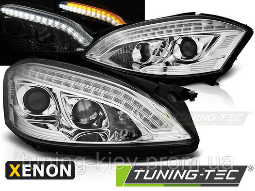 Передние фары MERCEDES W221 05-09 DAYLIGHT HID CHROME