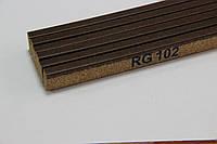 Пробковый компенсатор (порожек), 7мм, RG-102 Тёмный орех
