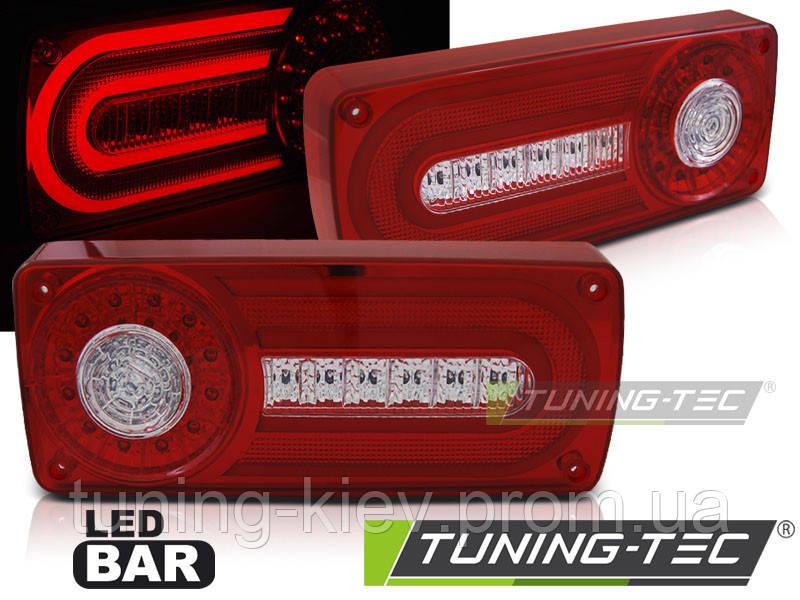 Задние фонари MERCEDES W463 G-KLASA 90-12 RED WHITE LED