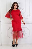 Вечернее шикарное платье в размерах 48 50 52 54, фото 1