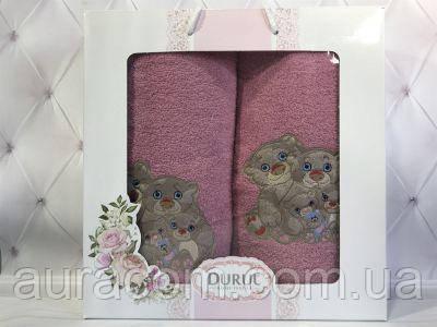 Подарочный набор в коробке,  полотенце банное + полотенце  для лица