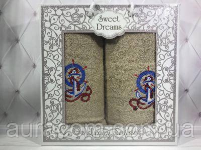 Sweet Drems Мужская серия Подарочный набор в коробке,  полотенце банное + полотенце  для лица