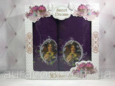 Sweet Drems Подарочный набор в коробке,  полотенце банное + полотенце  для лица