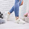 Кроссовки женские Lulu беж 5613 спортивная обувь