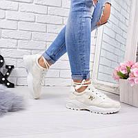 Кроссовки женские Lulu беж 5613 спортивная обувь, фото 1