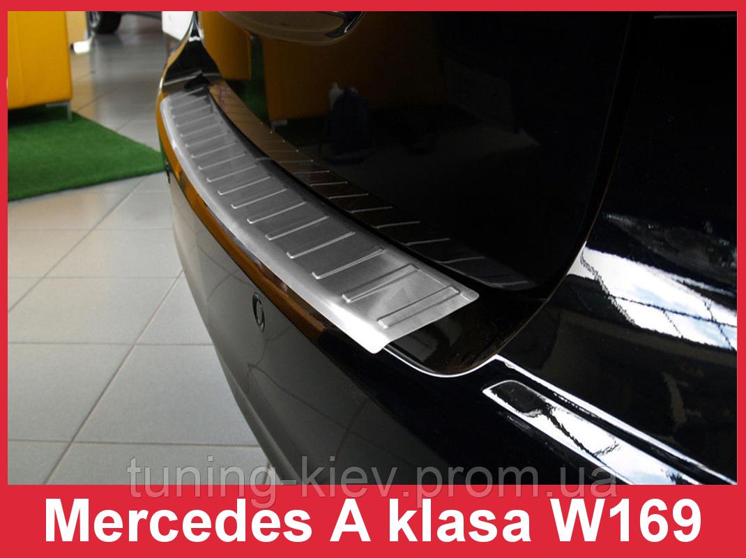 Накладка на бампер с загибом Mercedes A W169