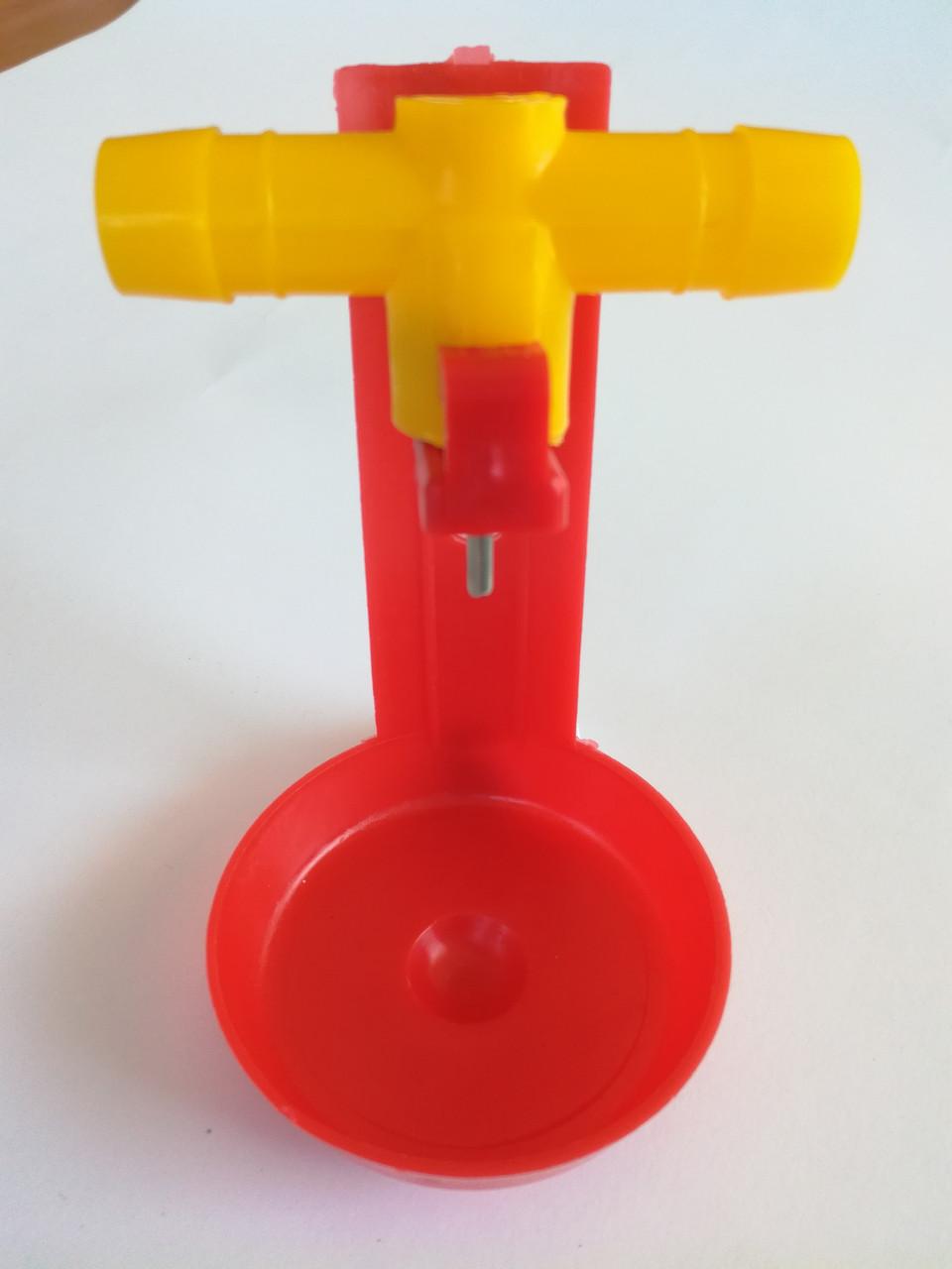 Модуль ниппельного поения 360град. для клетки под шланг 14мм. (МП-77)