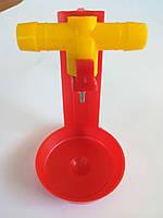 Модуль ниппельного поения 360град. для клетки под шланг 14мм. (МП-77), фото 1