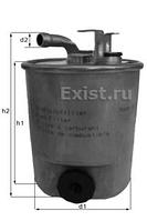MAHLE Фильтр топлива MB CDI SPRINTER, Vito (С датчиком воды)