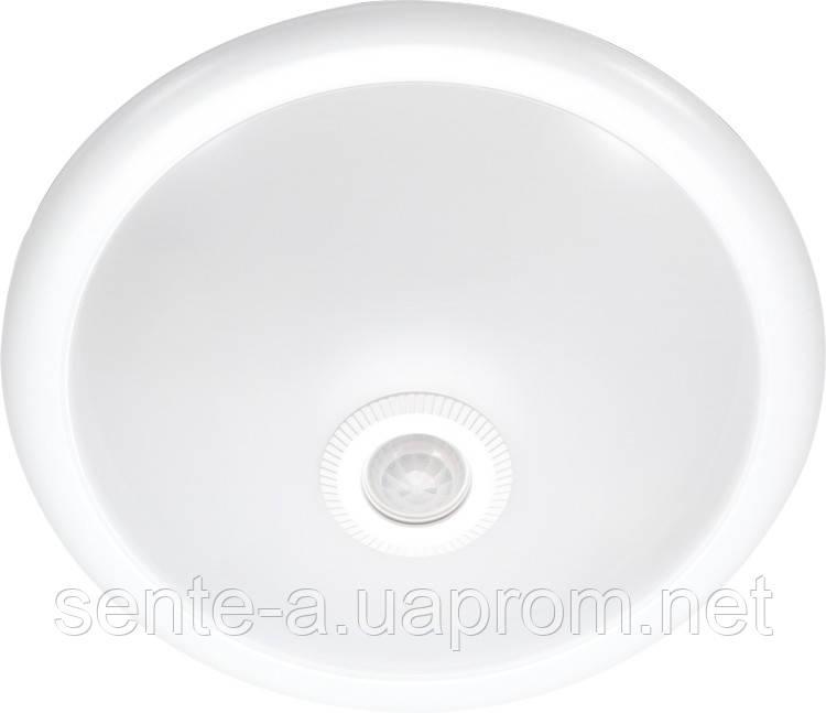 Светильник потолочный с датчиком движения e.sensor.lum.78.e27.white (белый) 360 °,IP20