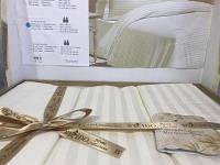 Однотонное сатиновое постельное белье, с четырьмя наволочками, .молочный цвет, By Ido , Турция