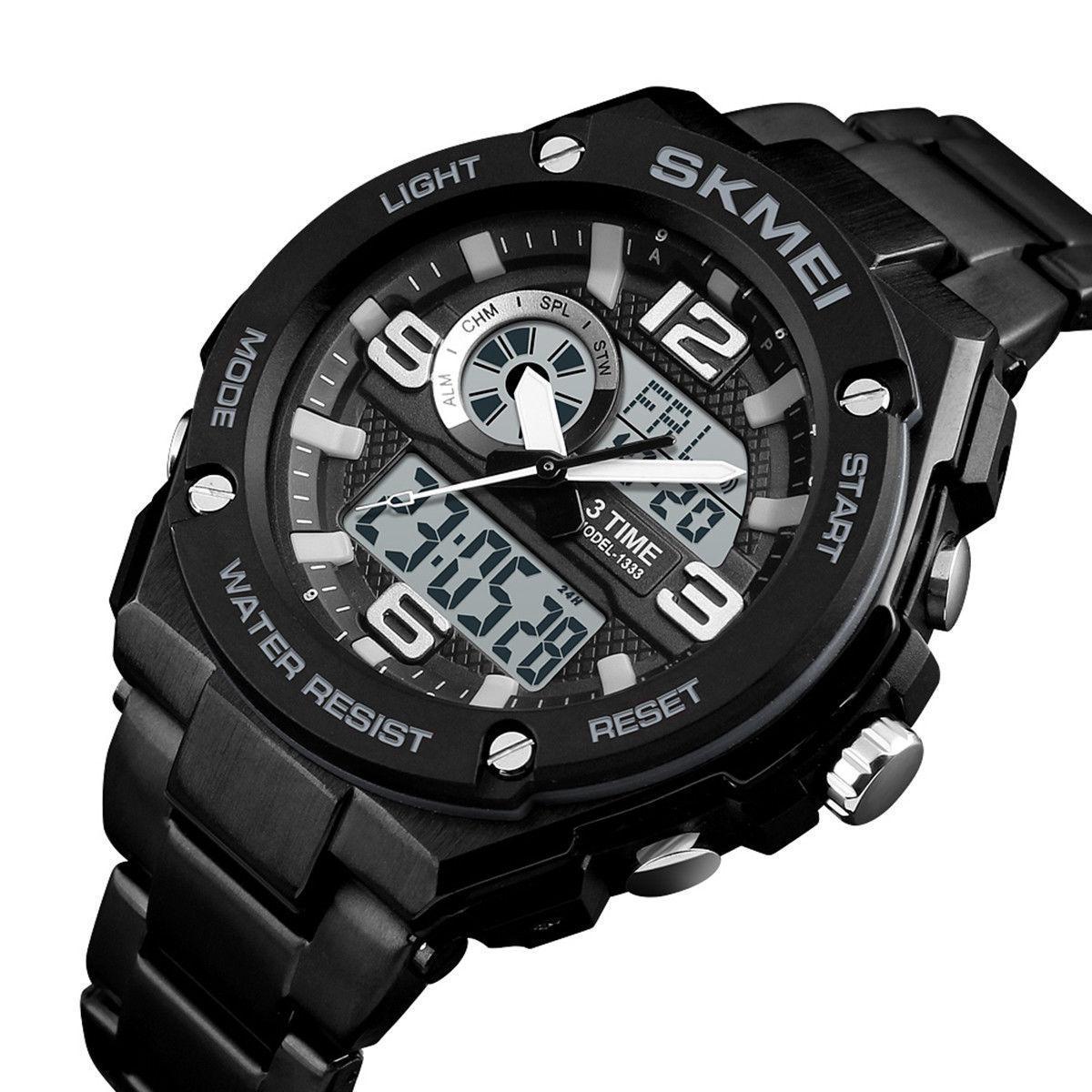Мужские спортивные часы SKMEI 1333 черные