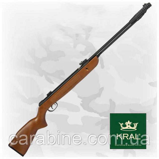 Kral 003W пневматическая винтовка с подствольным взводом, деревянное ложе