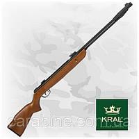 Kral 003W пневматическая винтовка с подствольным взводом, деревянное ложе, фото 1
