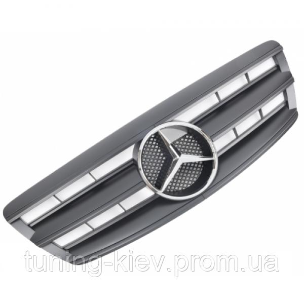 Решетка радиатора Mercedes W220 стиль AMG черная матовая