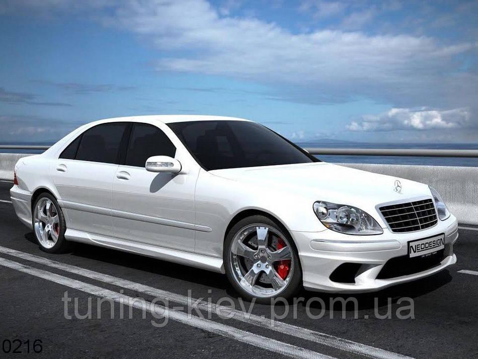 Пороги тюнинговые Mercedes W220 Sultan