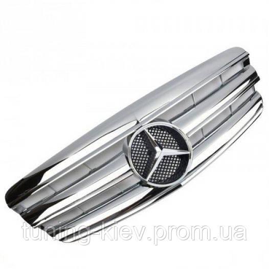 Решетка радиатора Mercedes W221 стиль AMG хром дорест.