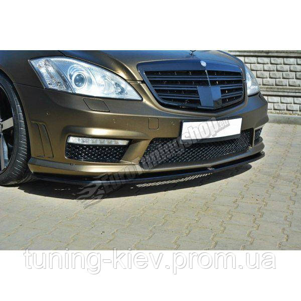Диффузор переднего бампера Mercedes S W221 AMG