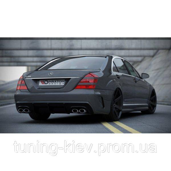 Задний бампер + диффузор Mercedes S W221 (стиль W205)