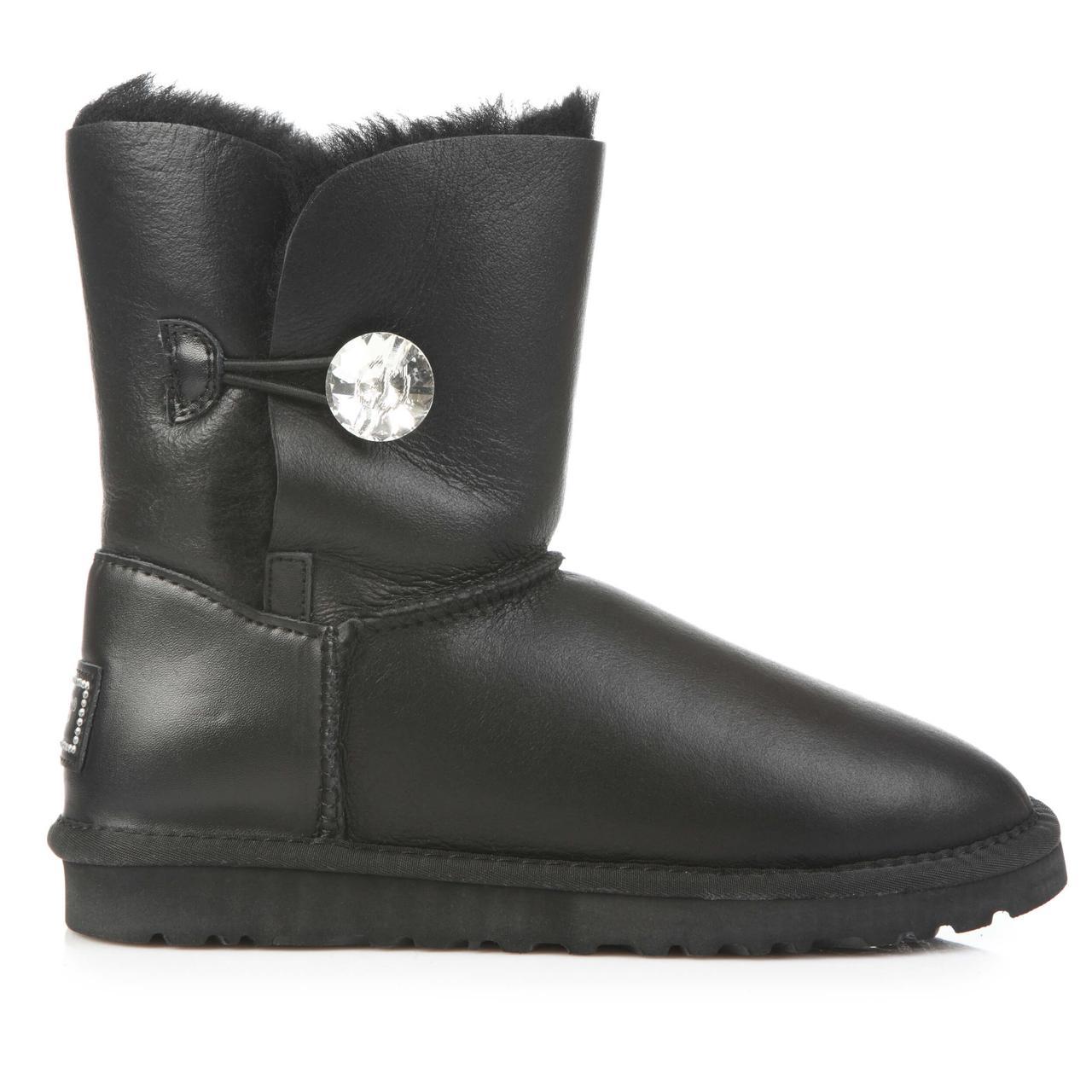 UGG Women's Bailey Bling Black Leather