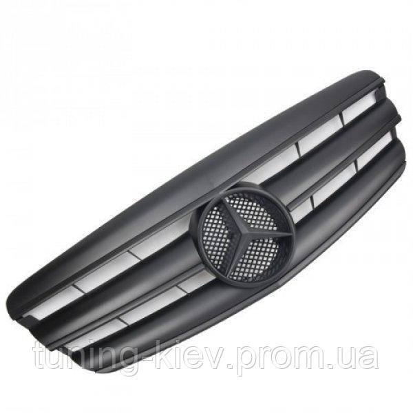 Решетка радиатора Mercedes W221 стиль AMG черная с черной звездой