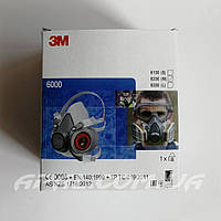 3M 6200 Протигазова напівмаска (розмір М), фото 1