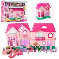 Детский домик 16526D с фигурками и мебелью