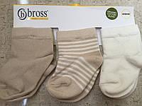 Носочки для новорожденных Bross (3 пары на планшетке)